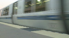 BART train passing by- Editorial Stock Footage