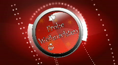 3d animated lable - Frohe weihnachten GERMAN LOOP Stock Footage