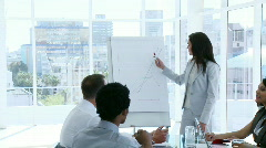 Business team speaking in a presentation Stock Footage