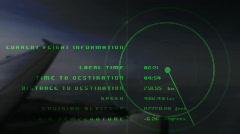 Airplane data radar information flight travel plane airport Stock Footage