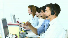 People working in a call center Stock Footage