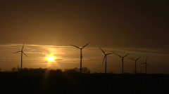 Windpark Fehmarn Sunset 3 Stock Footage
