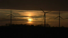 Windpark Fehmarn Sunset 1 Stock Footage