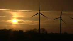 Windpark Fehmarn Sunset 2 Stock Footage