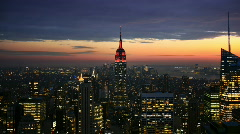 Empire State Building at sunset time lapse - stock footage
