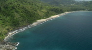 Aerial (stunning!) along tropical coastline Stock Footage