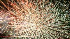 Fireworks - loop - digital display ready Stock Footage
