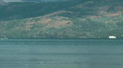 Speedboat on Baikal lake Stock Footage