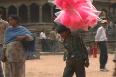 Kathmandu Street Scene 7 Stock Footage
