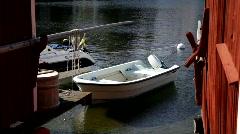 Traditional fishing harbor Bönhamn, Baltic Sea, Sweden. Stock Footage