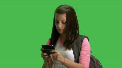 db girl texting - stock footage