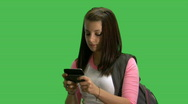 Stock Video Footage of db girl texting
