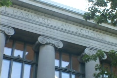 Columns decorate the Harvard Law School building. Stock Footage