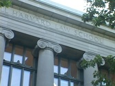 Stock Video Footage of Columns decorate the Harvard Law School building.