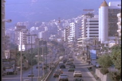 Traffic fills the streets of East Beirut, Lebanon. Stock Footage
