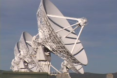 A satellite dish slowly moves at Very Large Array, New Mexico. Stock Footage