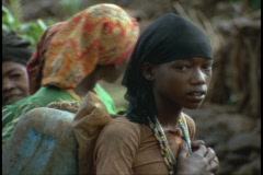 African young women smile shyly. Stock Footage