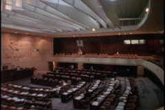 The Israeli Parliament meets inside the Knesset. Stock Footage