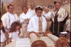 A young man participates in his Bar Mitzvah. Stock Footage