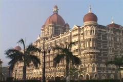 The Taj Mahal hotel in Bombay India. Stock Footage