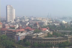 A high angle view of Bombay India. Stock Footage