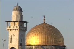 The Dome of the Rock tops a mosque in Jerusalem. Stock Footage