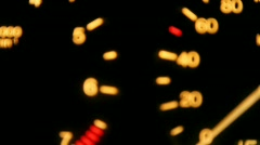 tachometer and speedometer - stock footage