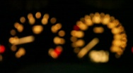Tachometer and speedometer Stock Footage