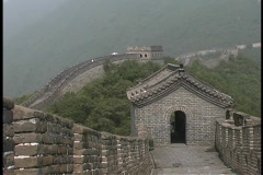 The Great Wall of China stretches through the jungle. Stock Footage