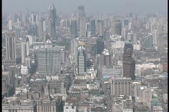 Skyscrapers rise above Shanghai, China. Stock Footage