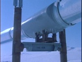 Stock Video Footage of Panning-shot along a section of the Alaskan pipeline.