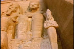 Carvings of Egyptian royalty decorate Kings Tomb in Egypt. Stock Footage