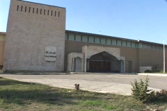A gate blocks the entrance to the Iraqi National Museum in Baghdad. Stock Footage