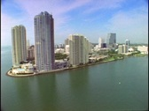 A Miami point houses highrise apartment buildings. Stock Footage