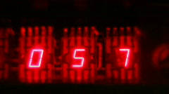 Red LED countdown clock - stock footage