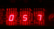 Stock Video Footage of Red LED countdown clock
