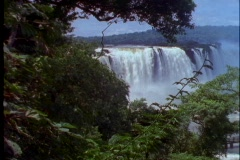 The Iguacu Falls pour into the jungle at the Brazil and Argentina border. Stock Footage