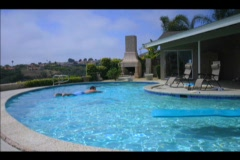 Time lapse of people in a swimming pool. Stock Footage