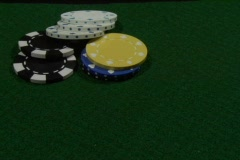 A gambler lays down an ace and a king. Stock Footage