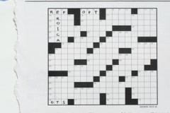 Words fill in a crossword puzzle. Stock Footage