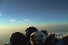 Skydivers jump from an airplane and hold a formation. Stock Footage