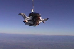 Tandem skydivers free fall. Stock Footage
