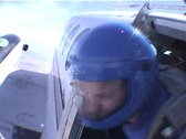 A skydiver jumps from an airplane and free-falls with another Stock Footage