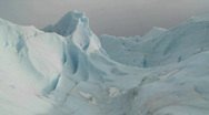 An ice mountain atop a glacier. Stock Footage