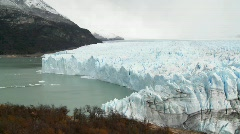 A wide shot of a glacier. Stock Footage