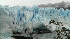 The front of a massive glacier. - stock footage