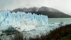 A wide shot of a massive glacier. - stock footage