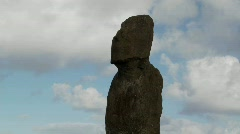 Time lapse of a mystical statue on Easter Island. Stock Footage