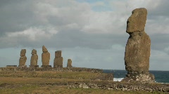The mystical statues of Easter Island. Stock Footage