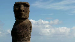 Time lapse of the mystical statues of Easter Island. Stock Footage